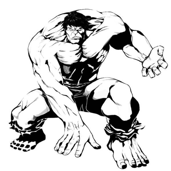 Disegno Di Incredibile Hulk Da Colorare Per Bambini