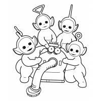 disegno di I Teletubbies da colorare