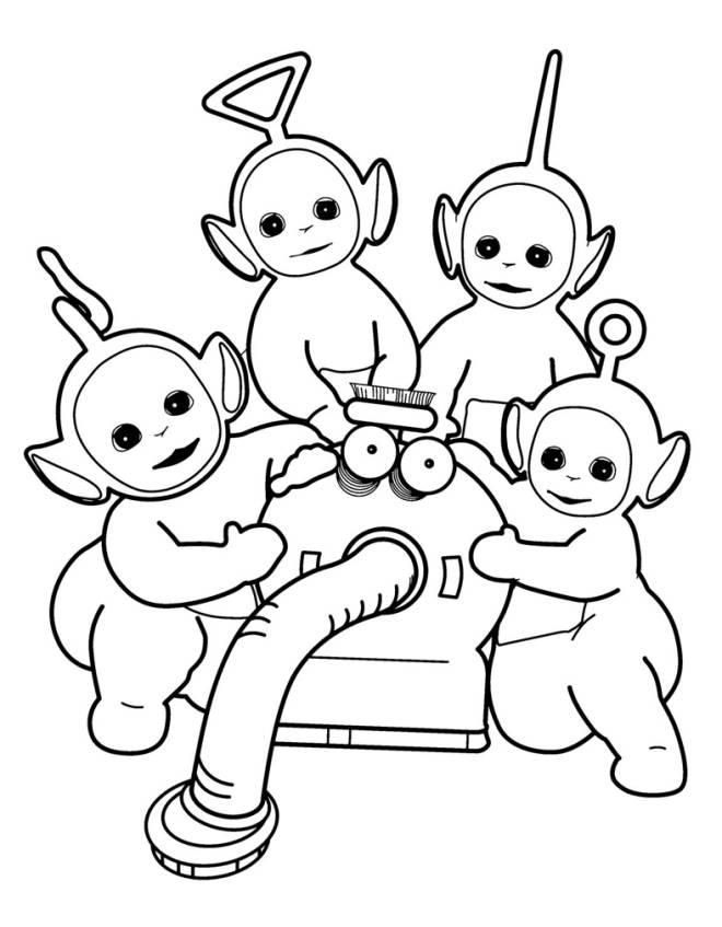 Disegno di i teletubbies da colorare per bambini for Cartoni animati da stampare e colorare