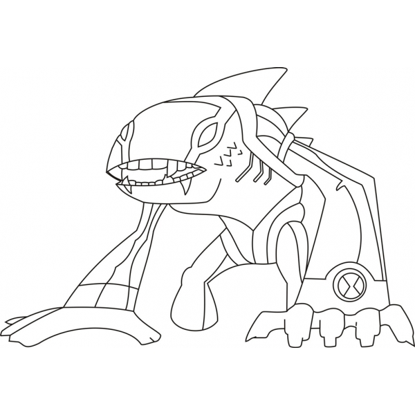 disegno di iguana artica ben ten da colorare per bambini