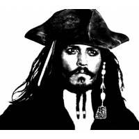 Disegno di Johnny Depp Pirata dei Caraibi da colorare