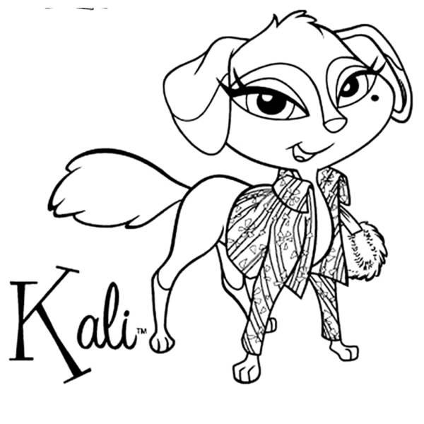 Disegno di Kali Bratz Petz da colorare
