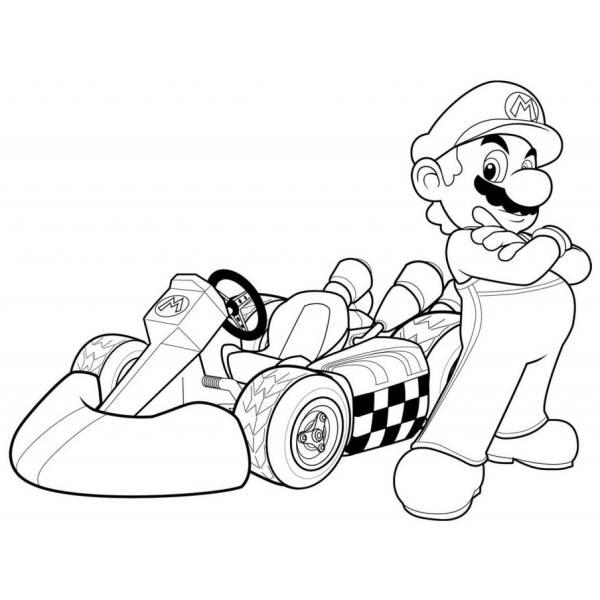Supermario E Luigi Da Colorare.Disegno Di Mario Kart Da Colorare Per Bambini