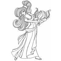 Disegno di Megara da colorare