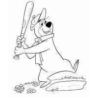 Disegno di Orso Yoghi Baseball da colorare