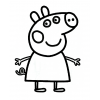 Disegno di Peppa Pig da colorare