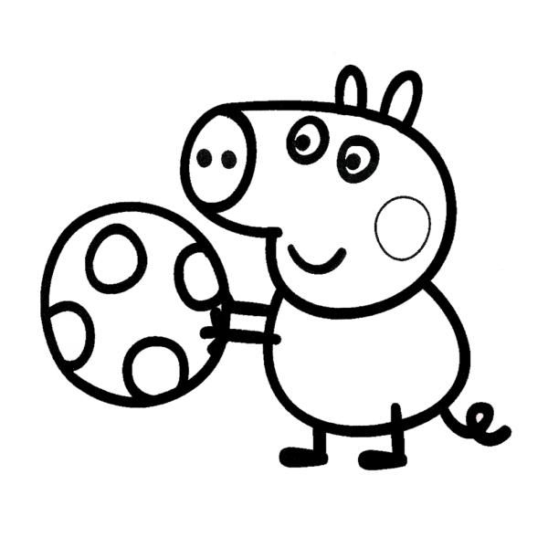 Disegno Di George Peppa Pig Da Colorare Per Bambini