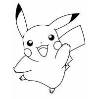 Disegno di Pikachu da colorare