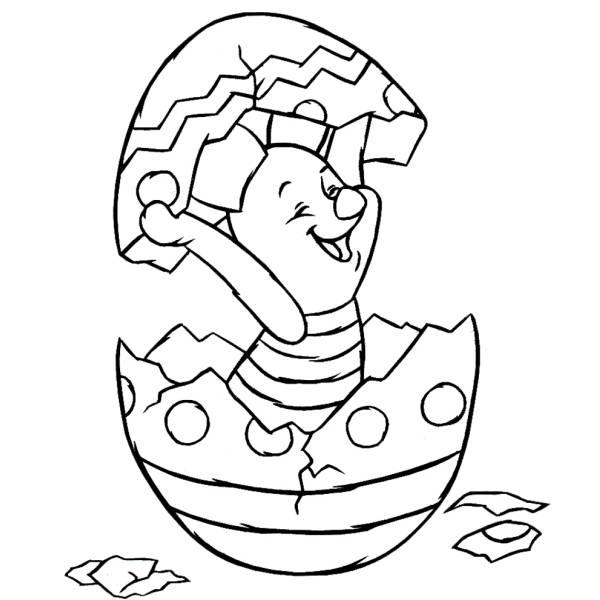 Disegno di Pimpi Uovo di Pasqua da colorare