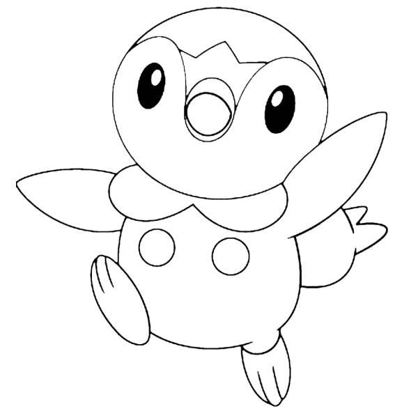 Disegno Di Piplup Pokemon Da Colorare Per Bambini