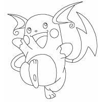 Disegno di Raichu Pokemon da colorare