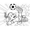 disegno di Ronaldinho da colorare