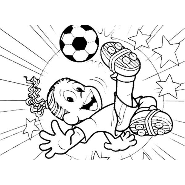 Disegno di ronaldinho da colorare per bambini for Disegni da colorare calcio