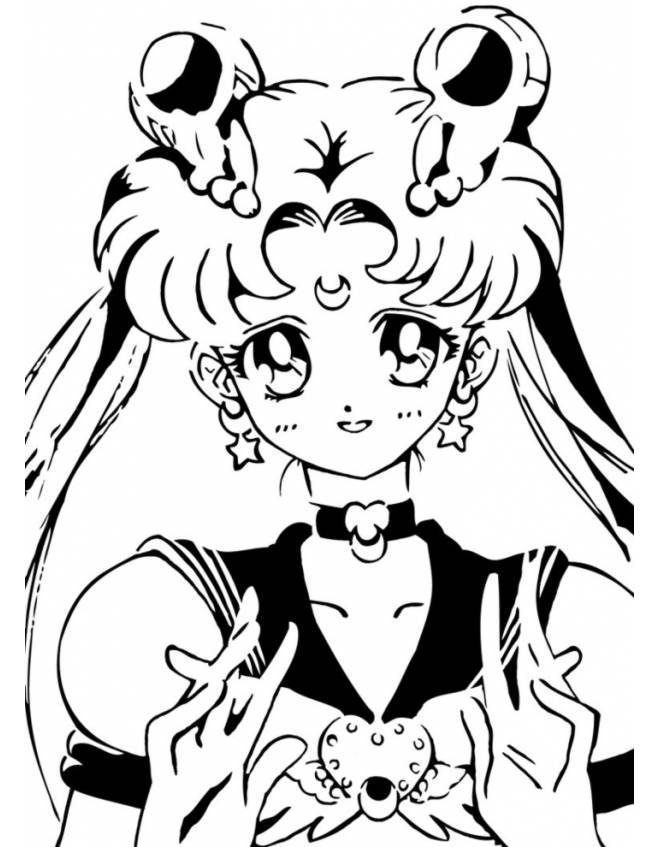 Disegno Di Sailor Moon Da Colorare Per Bambini Disegnidacolorareonline Com