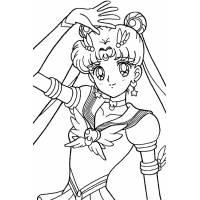 Disegno di Sailor Moon da colorare