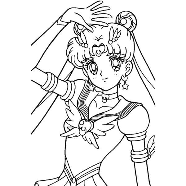 Disegno Di Sailor Moon Da Colorare Per Bambini