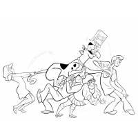 Disegno di Scooby Doo & Co. da colorare