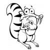 Disegno di Scrat e la Ghianda da colorare