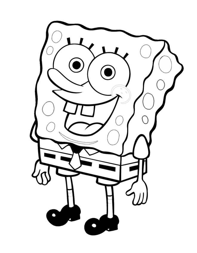 Disegni Da Colorare E Stampare Di Spongebob.Stampa Disegno Di Spongebob Da Colorare