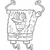 Disegno di Spongebob Hurra! da colorare