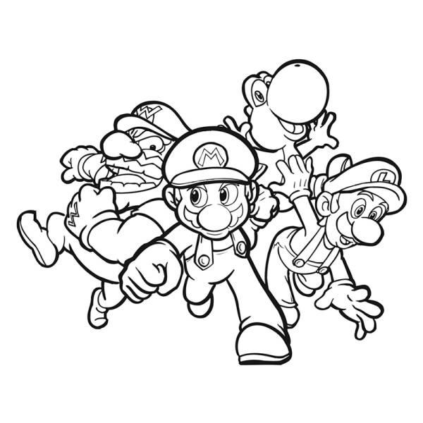 Disegno di super mario da colorare per bambini for Disegni da colorare super mario bros