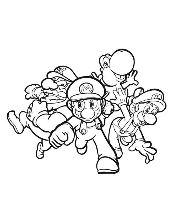 Disegno Di Mario Kart Da Colorare Per Bambini