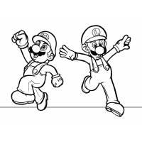 Disegno di Mario e Luigi da colorare
