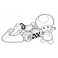 disegno di Toad Mario Kart da colorare