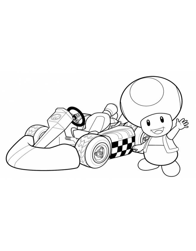 Mario Kart Toad Coloring Pages