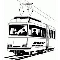 Disegno di Tram da colorare