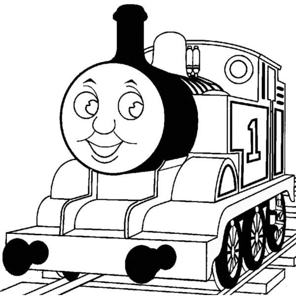 Disegno di Trenino Thomas da colorare