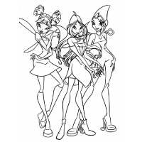 Disegno di Winx da colorare