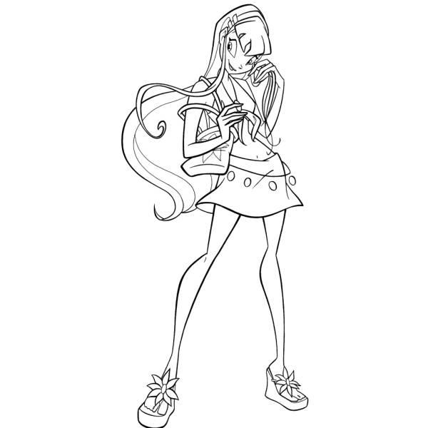 Disegni Da Colorare Disney Winx.Disegno Di Winx Stella Da Colorare Per Bambini