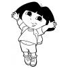Disegno di Dora l'Esploratrice da colorare