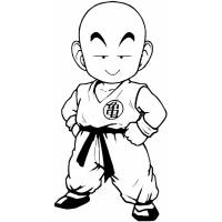 Disegno di Krillin Dragon Ball da colorare