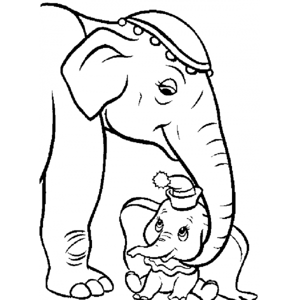 Disegno Di Dumbo E Mamma Da Colorare Per Bambini