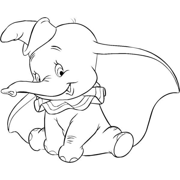 Disegno Di Dumbo Da Colorare Per Bambini Disegnidacolorareonlinecom