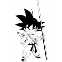 Disegno di Goku Dragon Ball da colorare