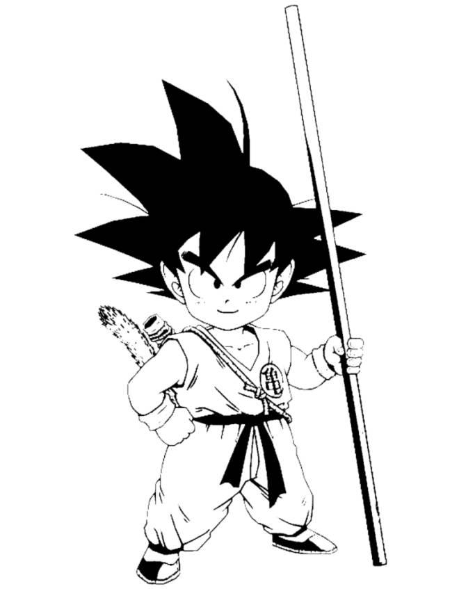 Disegni Da Colorare Gratis Goku.Disegno Di Goku Dragon Ball Da Colorare Per Bambini Disegnidacolorareonline Com