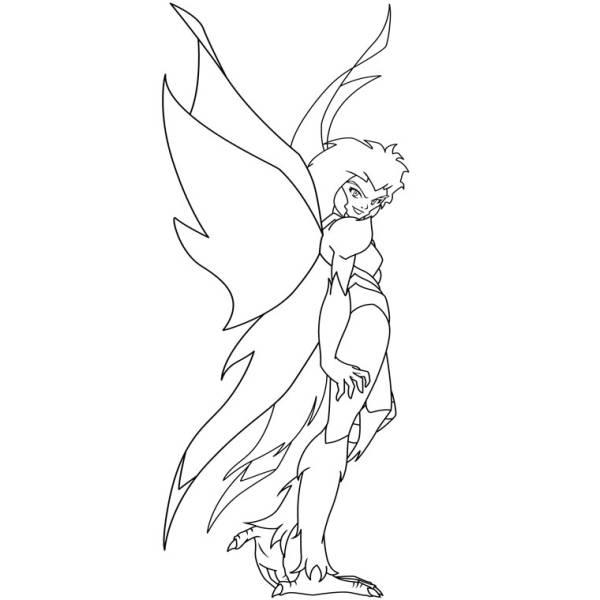 Disegno di La Signora dell' Aria da colorare
