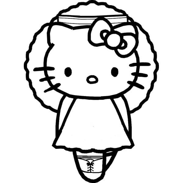 Disegno di Hello Kitty Ballerina da colorare