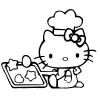 Disegno di Hello Kitty in Cucina da colorare