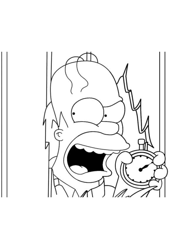 disegno di Homer dei Simpson da colorare