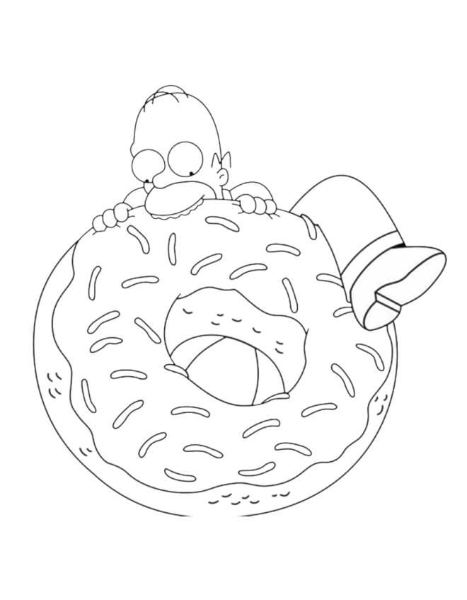 disegni da colorare homer simpson