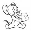 Disegno di Jerry con formaggio da colorare