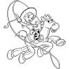disegno di Jessie a  Cavallo da colorare