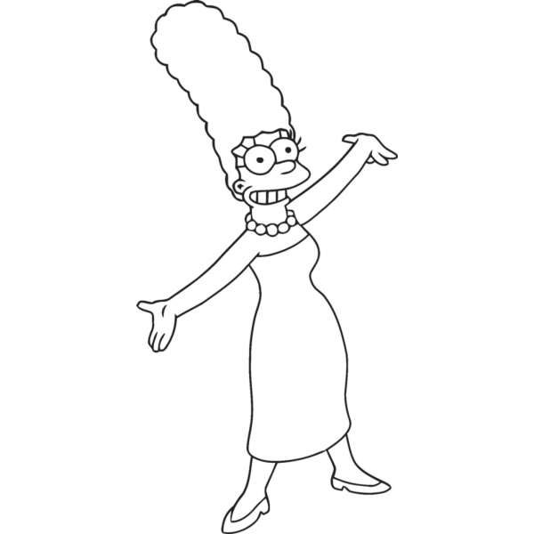 Disegno di Marge Simpson da colorare