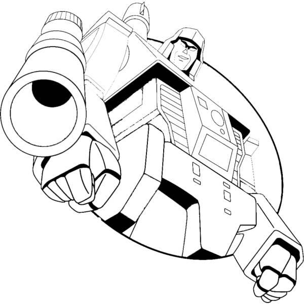 Disegno Di Megatron Transformers Da Colorare Per Bambini