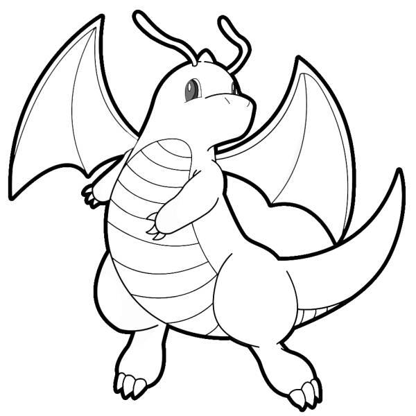 Disegno Di Pokemon Dragonite Da Colorare Per Bambini