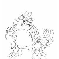 Disegno di Pokemon Groudon da colorare